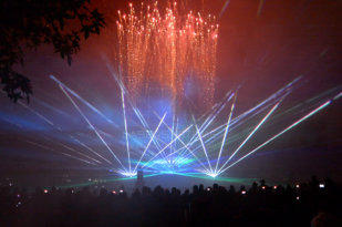 Laser show for Gartenschau Bad Herrenalb