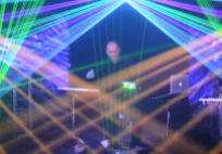 Laser show and laser harp - a breathtaking show event