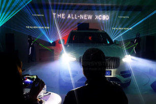 Volvo XC90, Laser show in South Africa