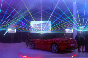 Laser show for Ferrari, South Africa