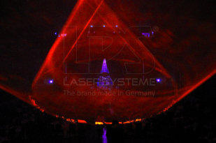 Laser show effects for the trendy orchestra in Obecni Dum, Prag, Czech Republic