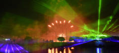Laser shows combined with demanding fireworks always inspire the audience.