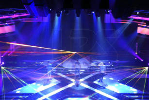 Laser shows at X-Factor in South Africa