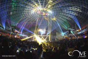 Laser show, Miss Universe Celebration, Cove Manila, Okada Hotel and Casino, Manila, Philippines