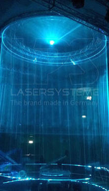 Laser show effects on the largest theatre stage of the world - Friedrichstadt-Palast, Berlin, Germany
